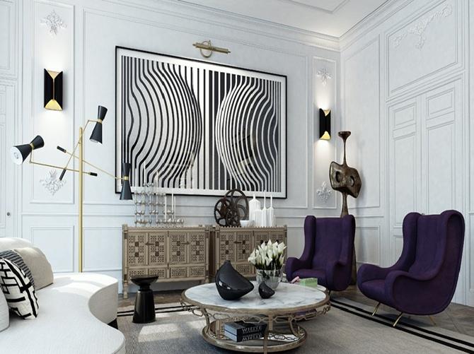 Apartmento em Branco e Preto