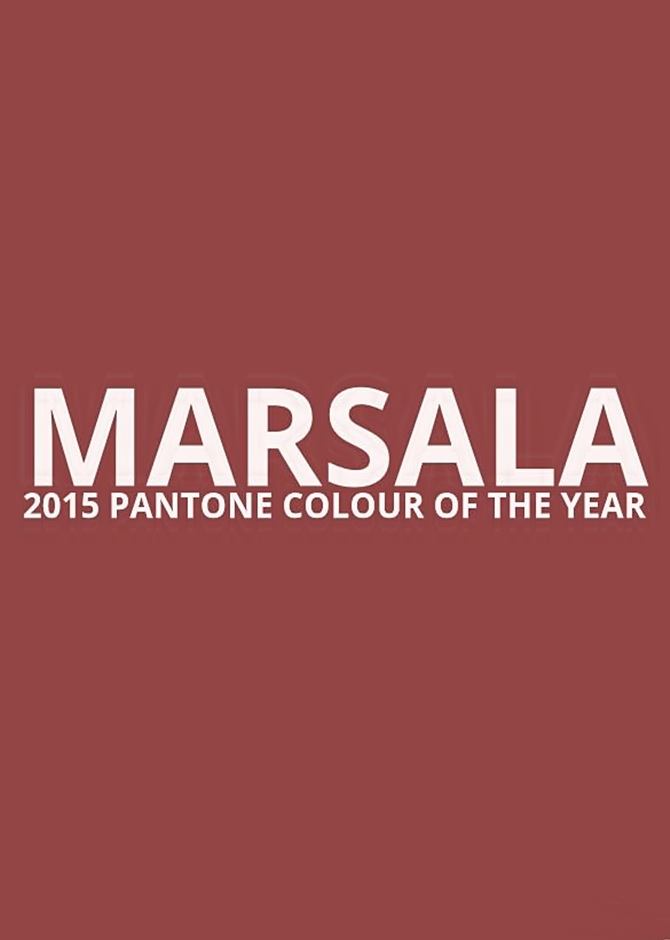 Marsala colour of 2015 | Tempo da Delicadeza