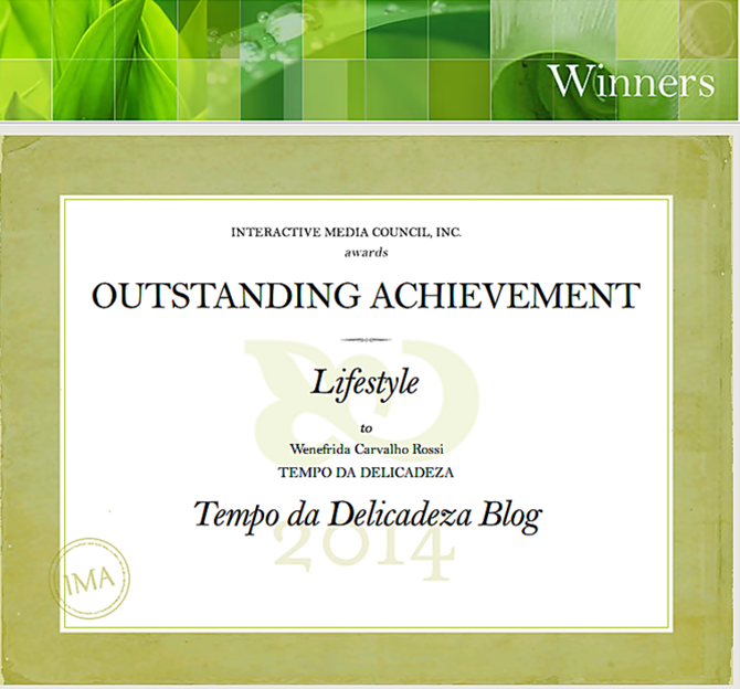 IMA Award   Tempo da Delicadeza