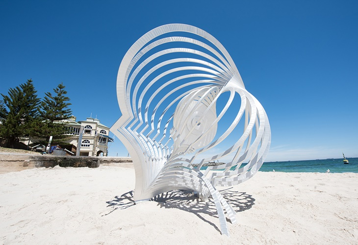 Anne Neil, Murmur, Sculpture by the Sea, Cottesloe 2017. Photo Stellar Fraser