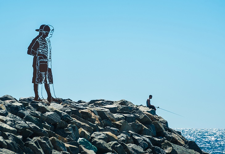 Zadok Ben-David, Big Boy, Sculpture by the Sea, Cottesloe 2017. Photo Richard Watson
