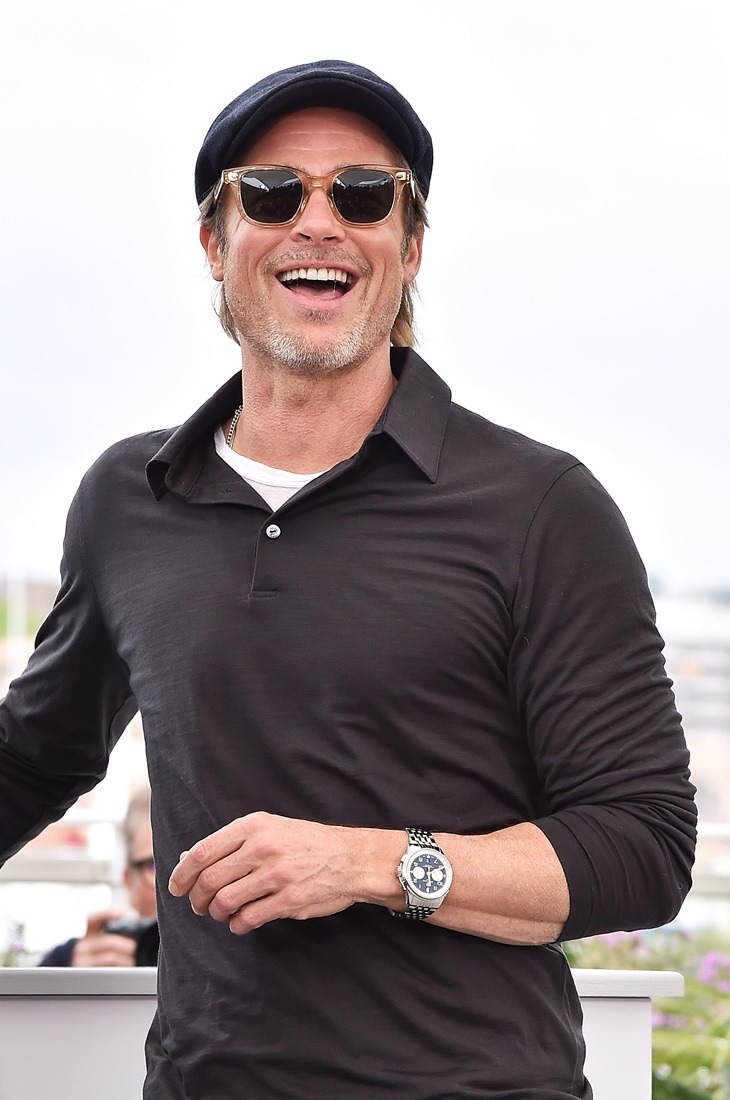 "CANNES, FRANCE - MAY 22: Brad Pitt attends the photocall for ""Once Upon A Time In Hollywood"" during the 72nd annual Cannes Film Festival on May 22, 2019 in Cannes, France. (Photo by Dominique Charriau/WireImage)"