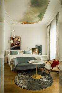 Afrescos nos quartos do Sofitel Villa Borghese